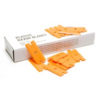 Cuchillas plástico naranja